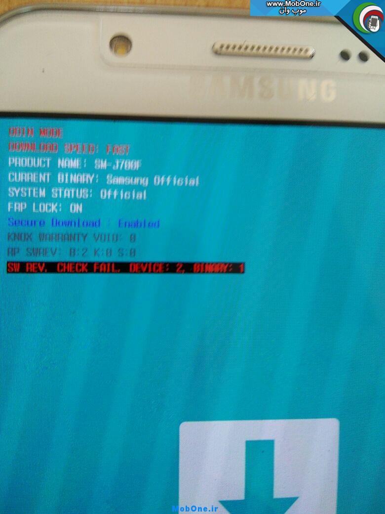 فایل حل مشکل بریک شدن در سامسونگ Galaxy J700F بعد از آپدیت بصورت OTA